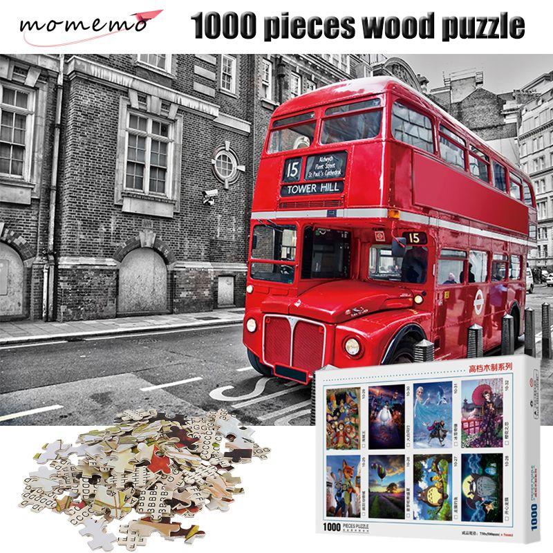 Großhandel Momemo London Bus Holz Puzzle 1000 Stücke Landschaft