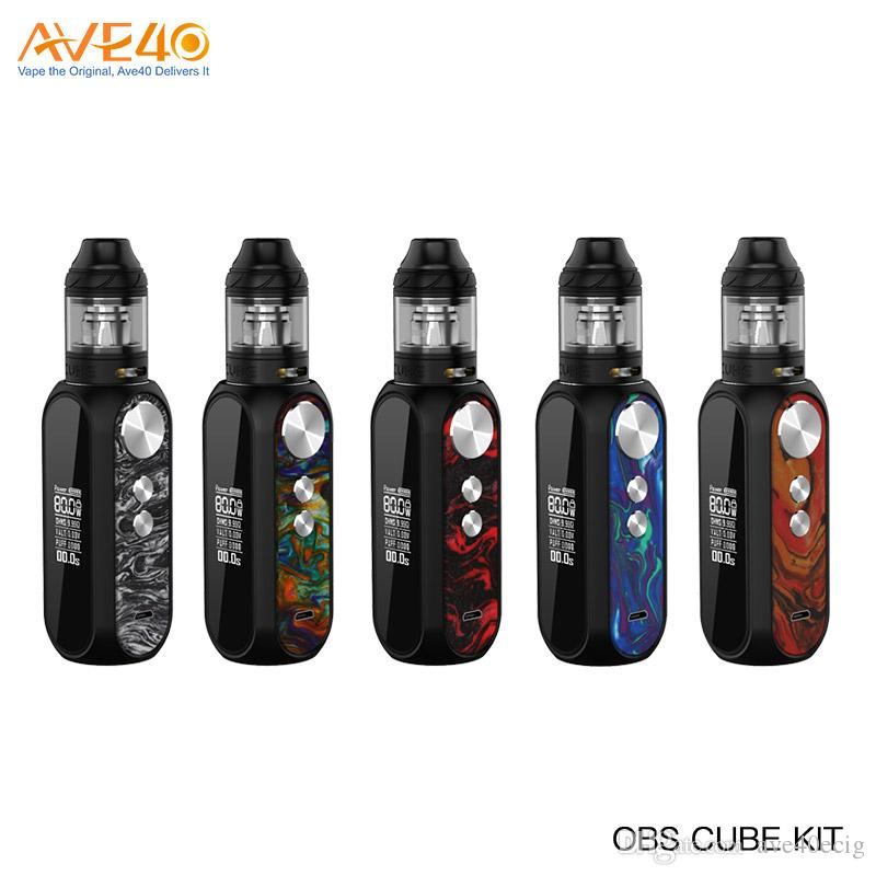 Original OBS Cube Resin Kit with 3000mAh OBS Cube MOD 80W OBS Cube Tank Electronic Cigarette