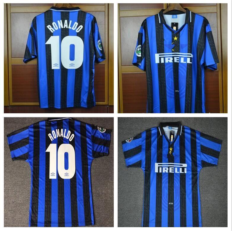d6e2260b2a9 2019 1997 1998 Vintage Calcio MAGLIA 97 98 Retro Ronaldo Soccer Jersey  Classic Milan Football Shirts Maillot De Foot Camiseta From  Jerseyclubsoccer000