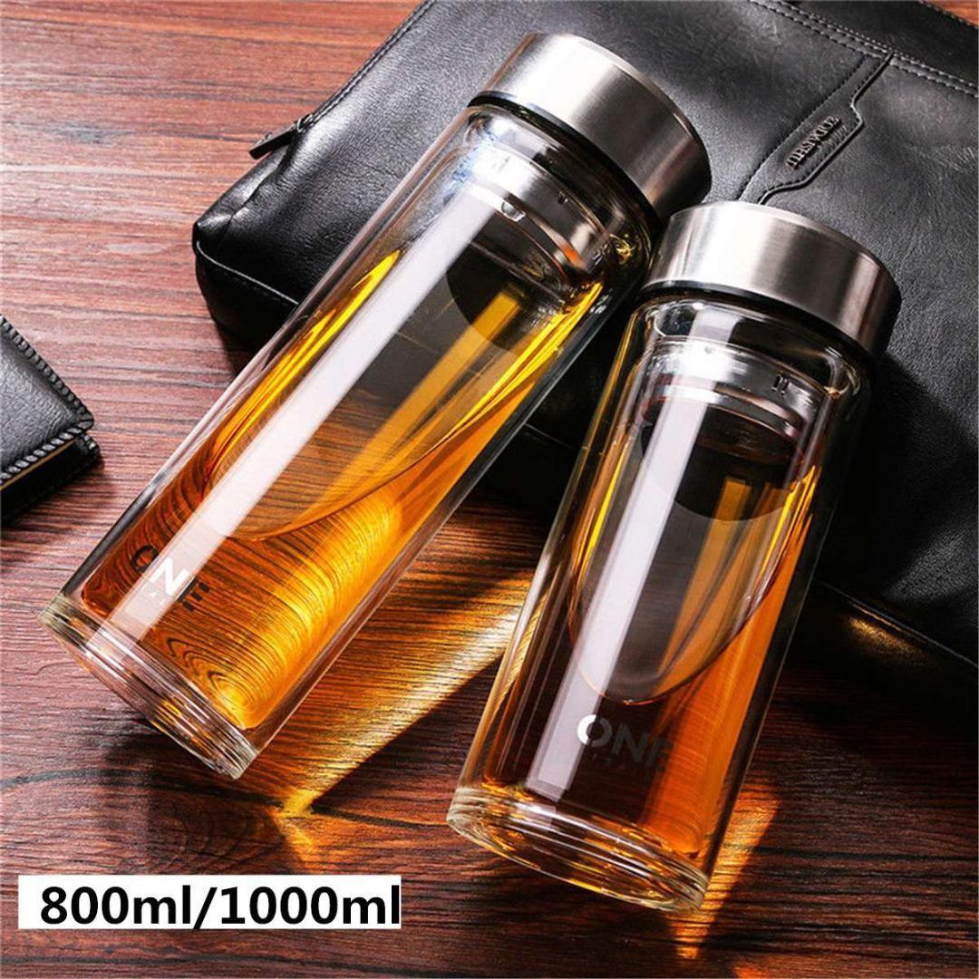 b6329789fe Portable Leakproof Drinkware 800ML/1000ML Glass Water Bottle with Infusers Sport  Water Bottles Vacuum Bottle Glass Cups Water Bottles Cheap Water Bottles ...