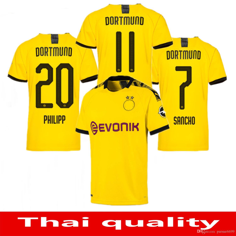 ded0345d303 2019 19 20 Dortmund Borussia REUS M.GOTZE Home Away Jerseys 2019 2020  SCHURRLE PISZCZEK PULISIC Jersey MKHITARYAN HUMMELS GOTZE Sport Shirt From  Pursue6699, ...
