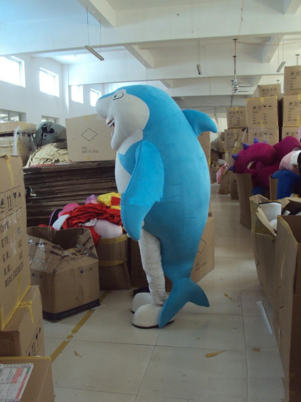 f508f1b3bc 2019 Hot Sale Blue Shark Mascot Costume Adult Character Costume Mascot As  Fashion Lancer Mascot Costume Plush Mascot Costumes From Appliquedmermaid,  ...