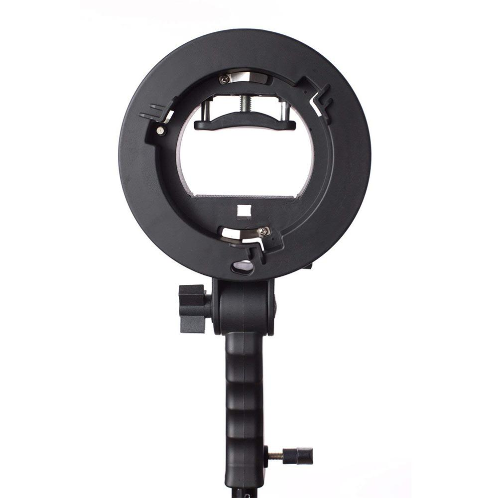 Handheld Grip S-Type Bracket Holder with Bowens Mount for Speedlite Flash Snoot Softbox Beauty Dish Photography Accessories