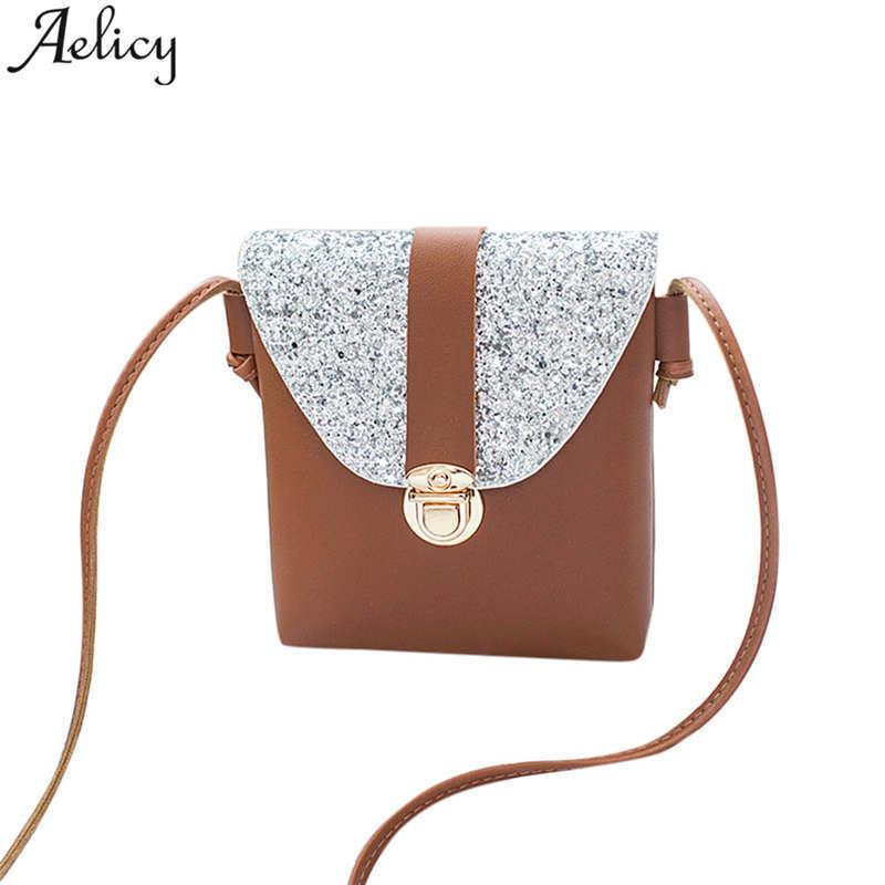 Cheap Aelicy Cute Mini Solid Women Message Bags Brand Women Solid Crossbody  Bags Mini Bag For Teenager Girls With Sequined Lock Leather Backpack Clutch  Bags ... ad5e15033b