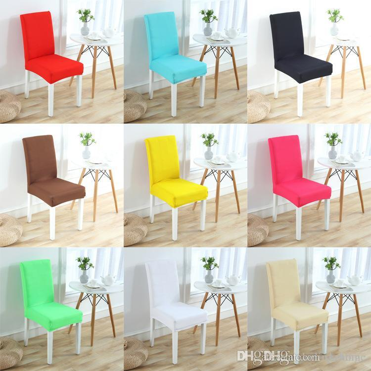 Wholesale 65 Designs Chair Cover Stretch Elastic Slipcovers Restaurant Weddings Decoration Banquet Hotel Kitchen Accessories Craft Supplies