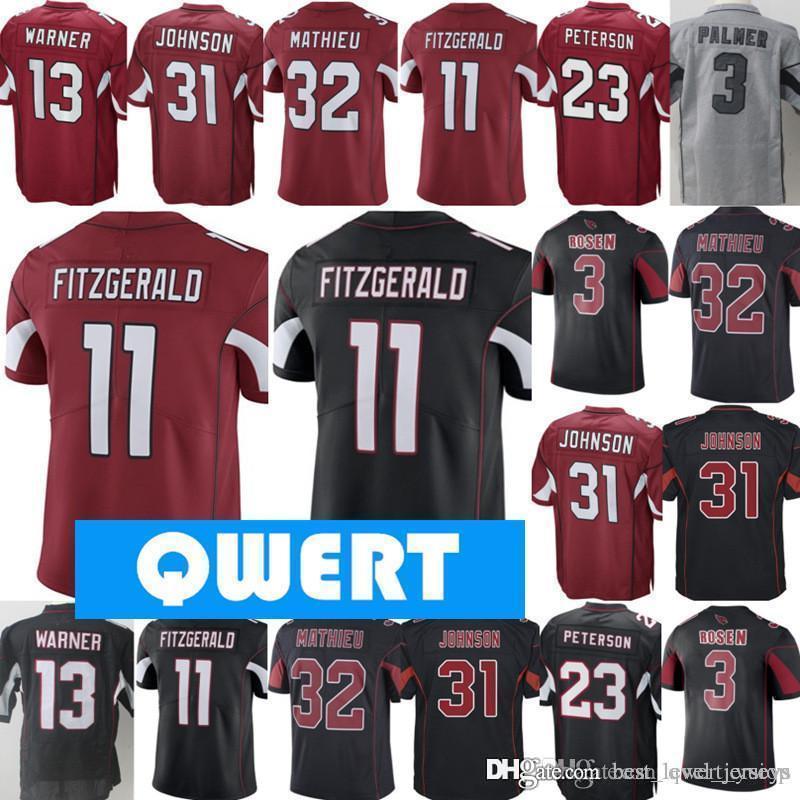 huge selection of b6410 d2d9b Mens Arizona Cardinal jerseys 11 Larry Fitzgerald jersey 21 Patrick  Peterson jerseys 31 David Johnson jersey 13 Kurt Warner all stitched jer