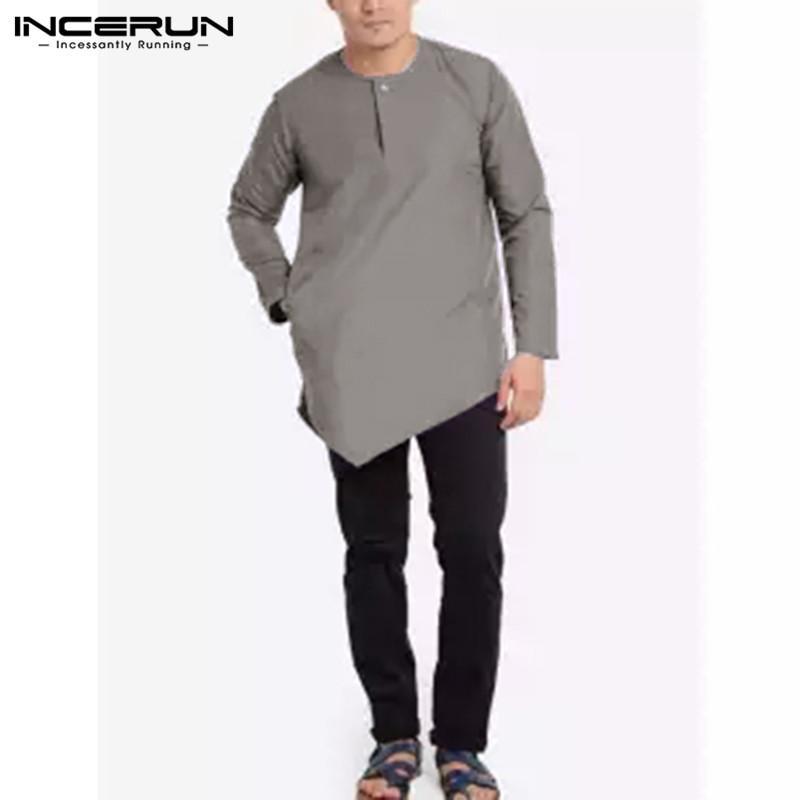 Stile Asimmetrica Nepalese Camicia Camicia Uomo Stile OPikXZu