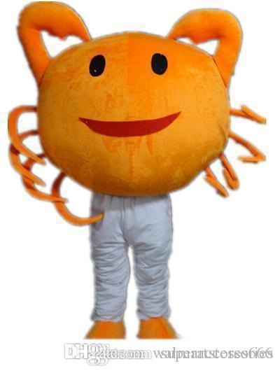 2019 High quality the head an orange crab mascot costume for adult to wear for sale for party