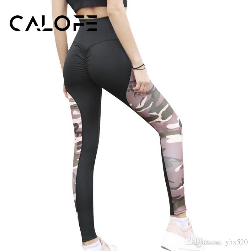 b8f360ae6aec8 2019 CALOFE Women Yoga Pants High Waist Yoga Leggings For Woman Hip Up Fitness  Sport Pant Women Elasticity Gym Running Tights Female #884064 From Yhx520,  ...