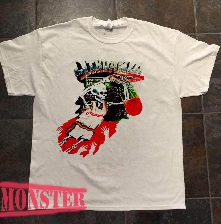 Grateful Dead Shirt T Shirt 1992 Lithuania Basketball Barcelona
