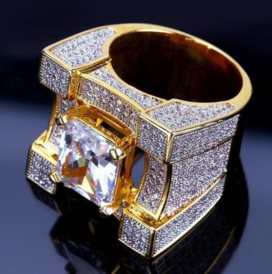 f6d3614e084dd Fashion Brand Zircon Rings Mens 18K Gold Plated Rings Luxury Red White Gems  Cubic Zirconia Rings Quality Fine Jewelry Lover Gift
