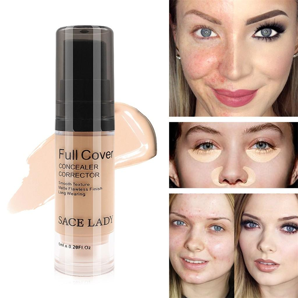 SACE LADY Full Cover Waterproof Liquid Concealer 6ml Corrector Face Flawless Makeup