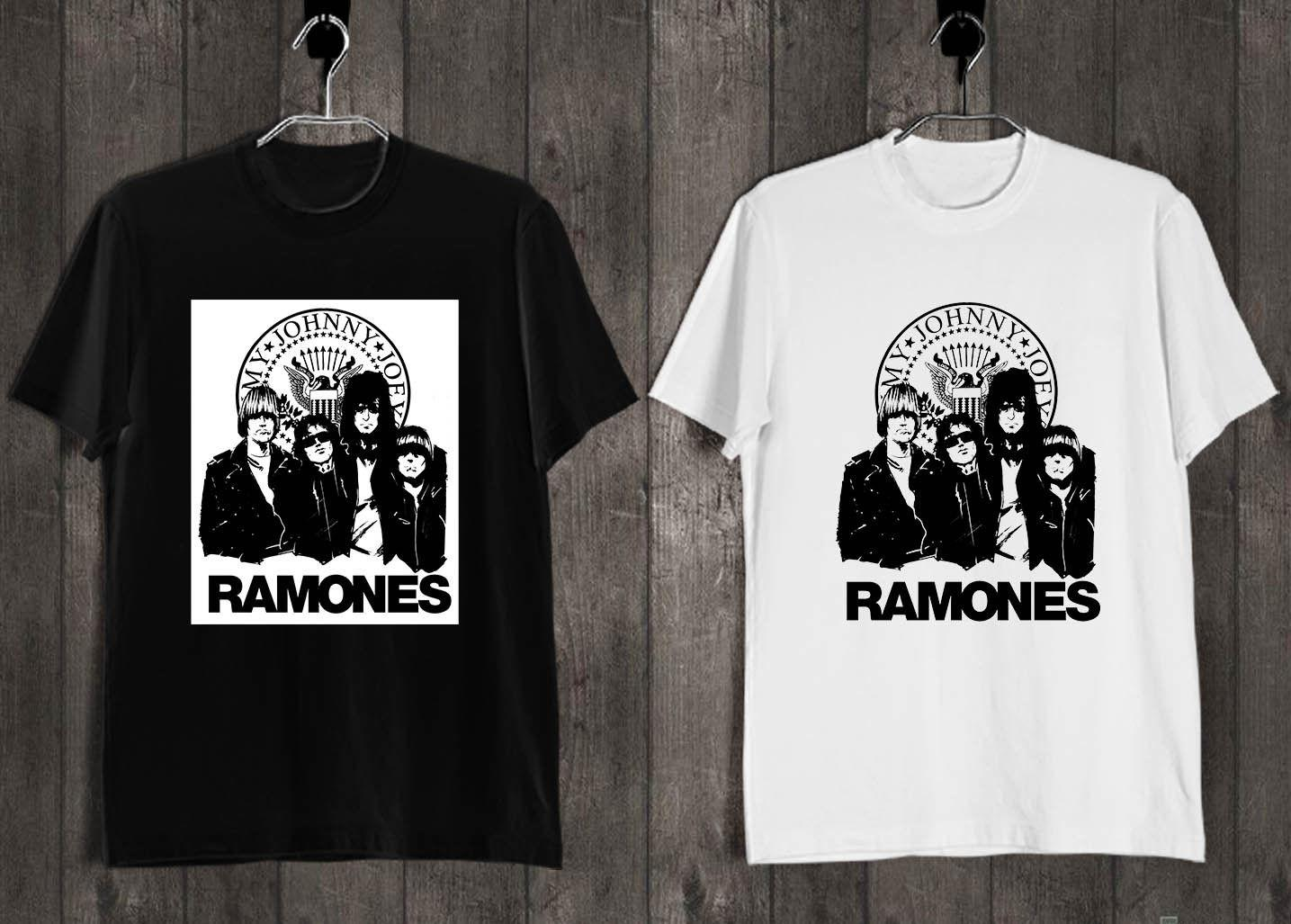 Ramones Punk Rock T Shirt Black White B Quality T Shirts Men