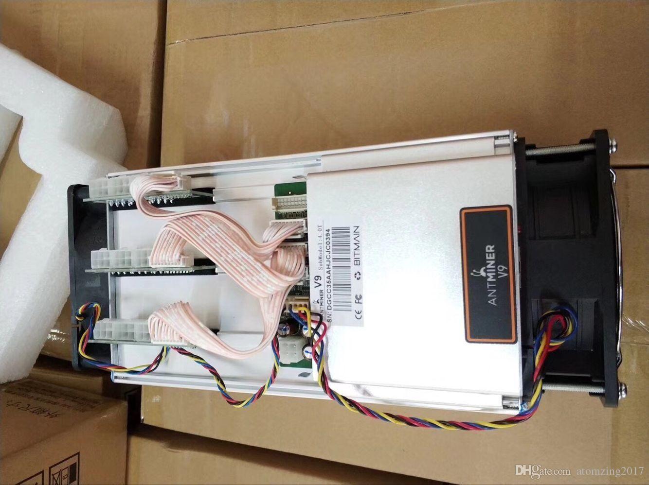 100% Original New Antminer V9 4TH/s Asic Miner BTC V9 Miner Btc Mining  Machine Free Shipping DHL