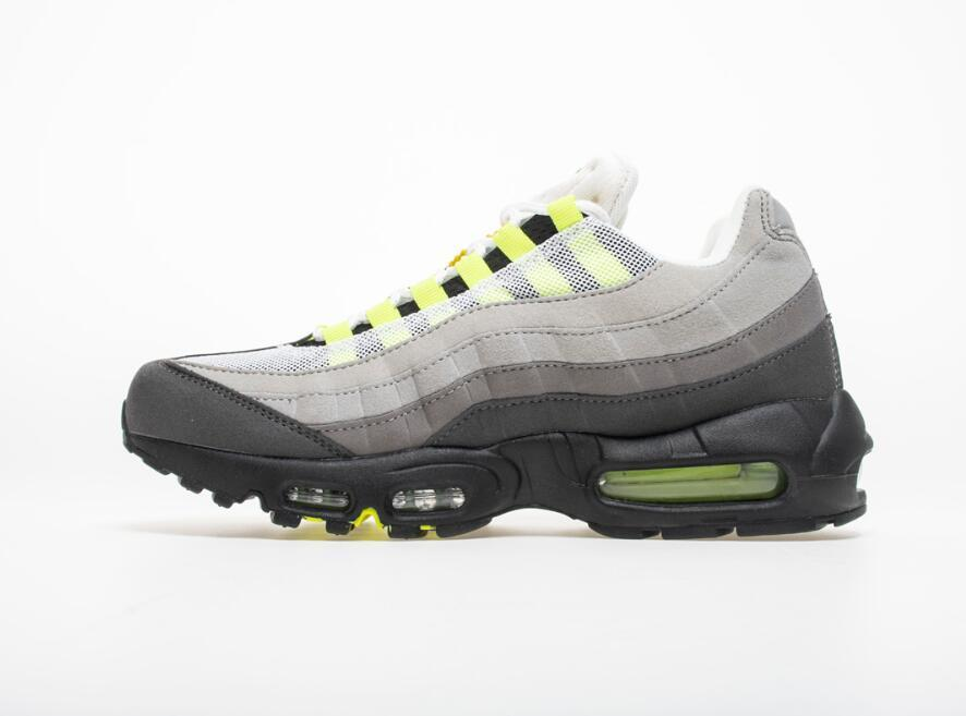 3599763fb9c1c Womens Mens Designer Trainers Sneakers 2019 Grass Green Yellow Pink White  95s Womens Jogging Speed Trainer Shoes Size 5.5-8.5 95 Mens Athletic Shoes  Mens ...