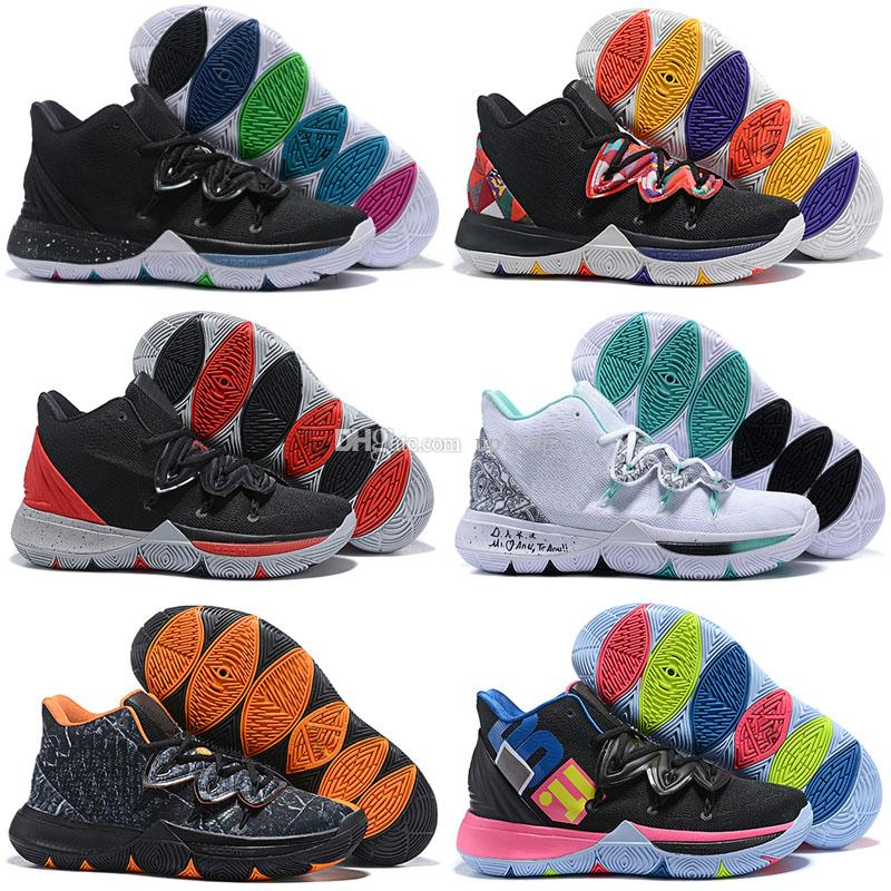 55e913debeb6 2019 2019 New Boys Kyrie V Lucky Charms Shoes Sales Irving 5 Outdoor 5s  Shoes Youth Girls Women Size 40 46 From Up2 up2