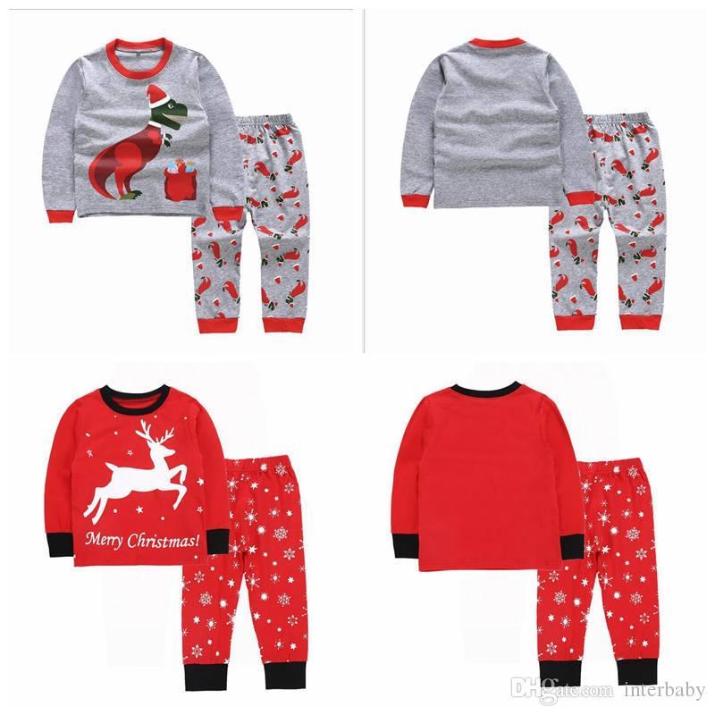 72ef7e3ac 2019 Baby Boys Clothing Sets Christmas Children Pajamas Sets Animals ...