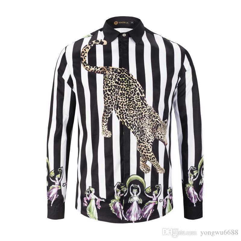 aa76f78c New Autumn Fashion Slim Fit Men's Medusa Long Sleeve Shirt Black And ...