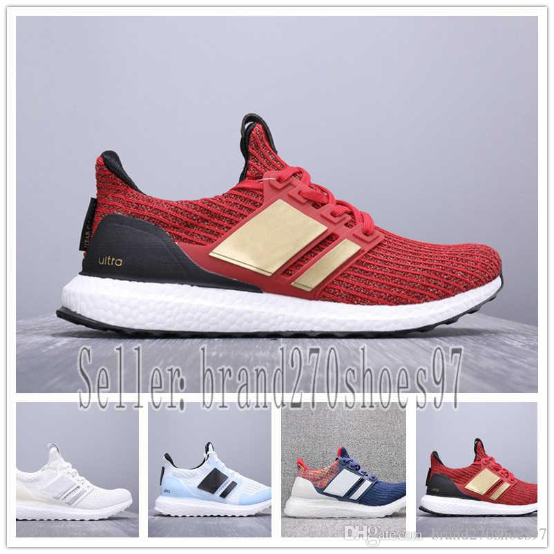 size 40 0b15f 910e2 Ultra Boots 3.0 4.0 Triple Black and White Primeknit Oreo CNY Blue grey  Mens Women Running Shoes ultraboots sport Sneakers US