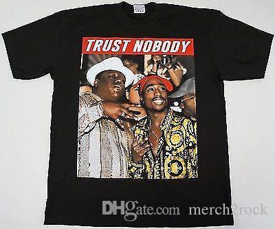 e81823787 TUPAC SHAKUR BIGGIE Smalls T Shirt TRUST NOBODY 2Pac Notorious B.I.GS 234XL  V276 Buy Shirts T Shirt Designers From Merch2rock, $10.95| DHgate.Com