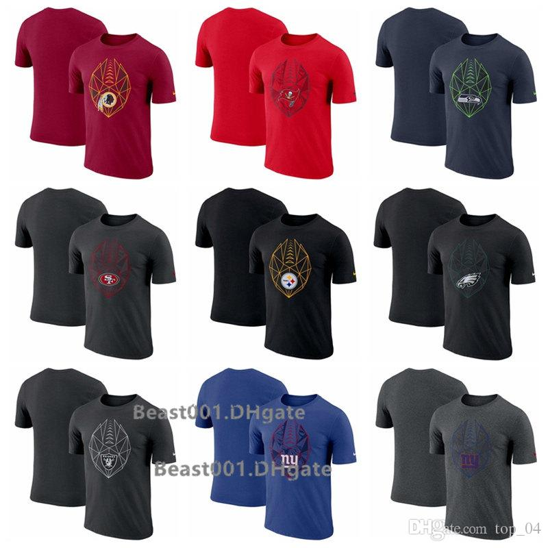 new style 832d1 c9510 Men Redskins Buccaneers Seahawks 49ers Steelers Eagles Raiders Giants Fan  Gear Icon Performance T-Shirt