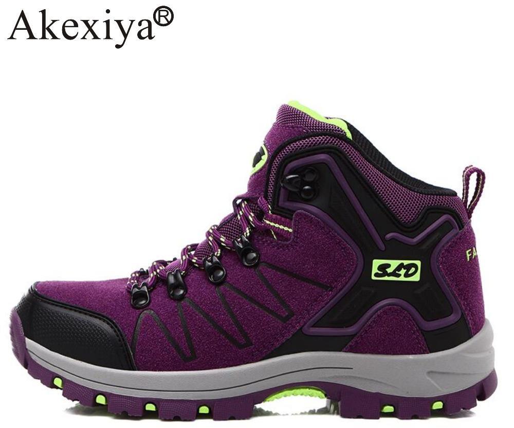 608d851b8804 Akexiya Leder Wanderschuhe Outdoor Sports Schuhe Männer Klettern Berg  Turnschuhe Frauen Trekking Schuhe