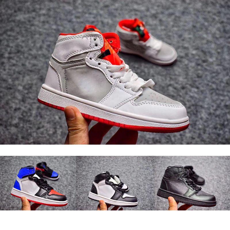 best service 3d7fc 4101b Großhandel Nike Air Jordan 1 3 12 Retro Jungen Mädchen 12 12s Gym Rot Hyper  Violett Lila Kinder Basketball Schuhe Kinder Rosa Weiß Blau Dunkelgrau ...