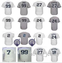 2019 New York Yankees Jersey 99 Aaron Judge 2 27 Giancarlo Stanton 24 Gary  Sanchez 51 Bernie Williams 3 Babe Ruth 7 Mickey Mantle Jerseys From  Movie jersey 464193124bc