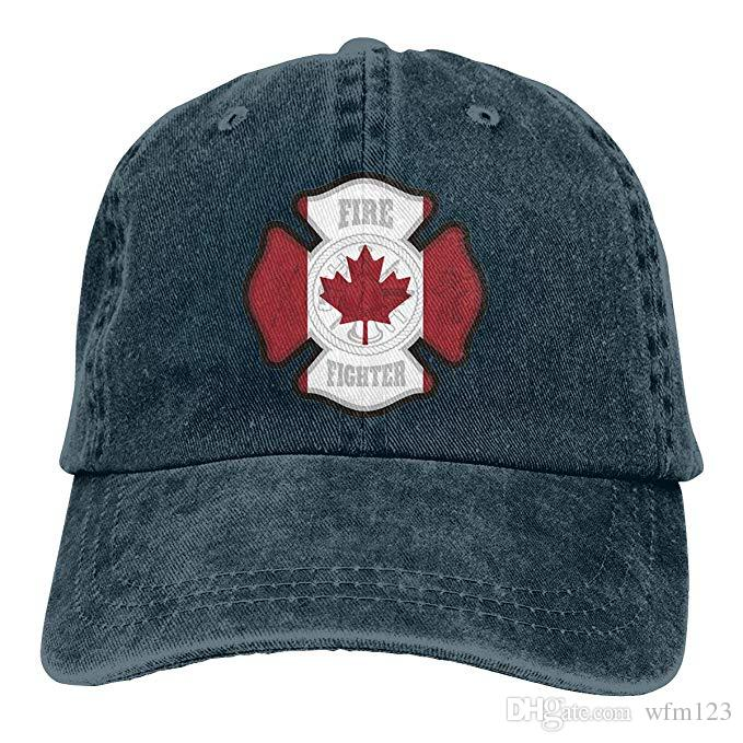 54f78726 2019 New Wholesale Baseball Caps Print Hat Canadian Firefighter Mens Cotton  Adjustable Washed Twill Baseball Cap Hat Caps Hats Fitted Cap From Wfm123,  ...