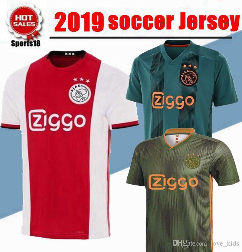 eb9d2bc06 2019 2019 2020 AJAX Home Soccer Jerseys DE JONG Away Shirt Ajax ...