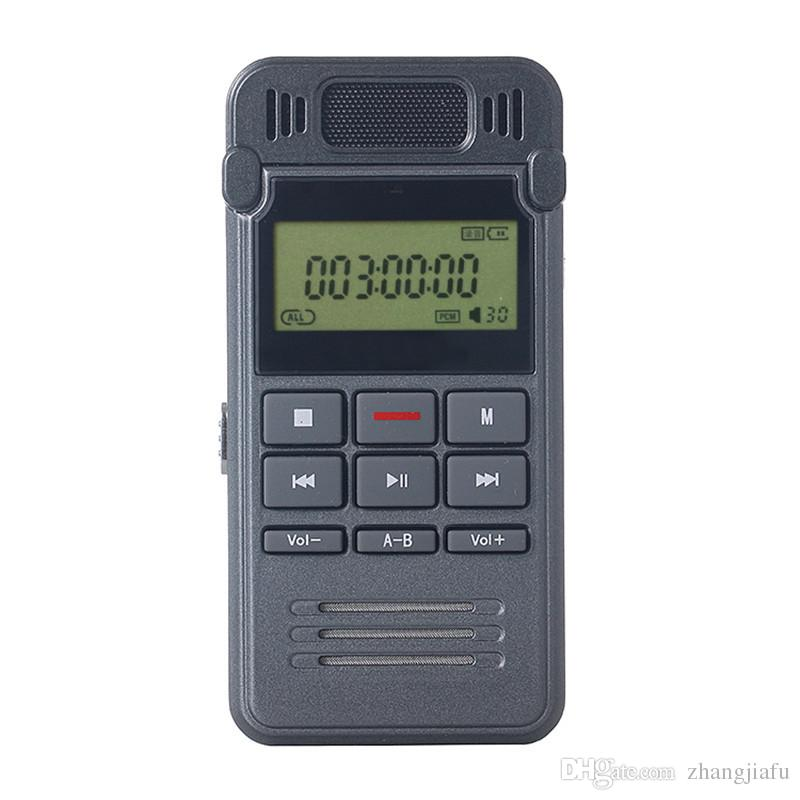 New 8GB Noise Reduction High-definition Digital Audio Voice Recorder Dictaphone Telephone Recording with LCD Display MP3 Player