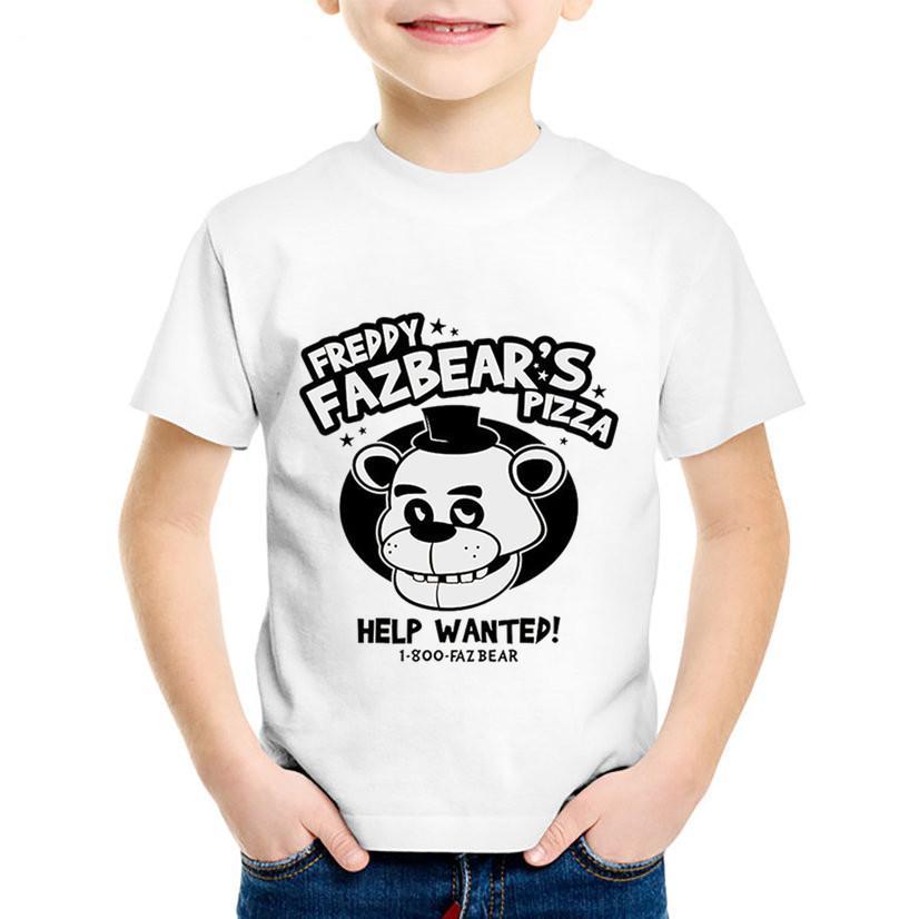 Estampado De Dibujos Animados Cinco Noches En Freddys Pizza Camisetas Para Niños Camisetas Divertidas Para Niños Camisetas De Bebé Para Niños
