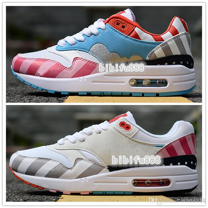 9d6a6239184 Netherland Designer Piet Parra 1 White Multi Running Shoes Women Rainbow  Casual Jogging shoe Mens Sport Trainers Sneakers
