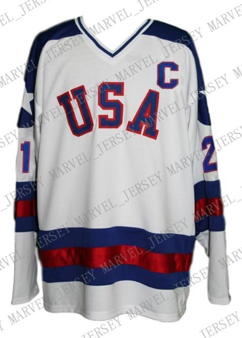 b3cc39b2 Custom Team USA Miracle On Ice Hockey Jersey New White Eruzione  Personalized stitch any number any name Mens Hockey Jersey XS-5XL