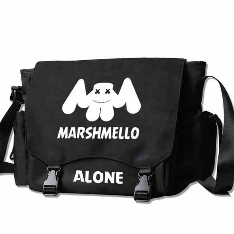 Marshmello Dj Alan Walker Handbag Shoulder Casual Messenger Bag Student School Book Messenger Bags Gift Cosplay