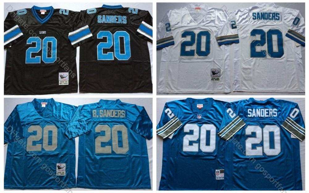 best website e0a26 fefa5 Vintage lions #20 Detriot Barry Sanders Jerseys 75th Patch Cheap Mens Barry  Sanders Football Jersey Stitched Shirts M-XXXL