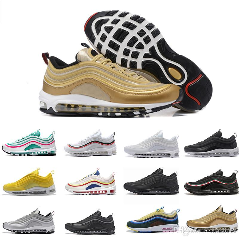 Nike Marque Femmes Airmax Baskets Max Chaussures 97s Course Wotherspoon De Bullet 97 Air Shoe Ultra Designer Hommes 308 Argent Or Sean TFK13ucJl