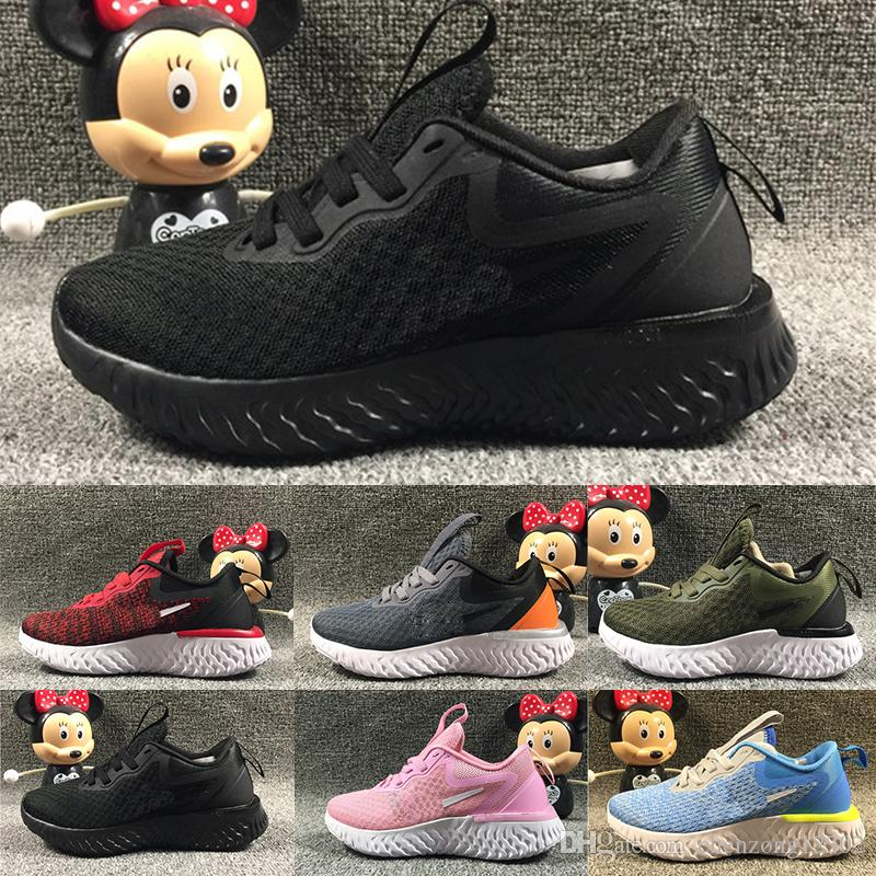 d92bc82fc0fae Epic Kids Shoes Mesh Knit And Tech Bubble Outdoor Running Sneakers  Originals Epic React High Elastic Tech Athletic Baby Shoes Size 28 35  Athletic Shoes ...