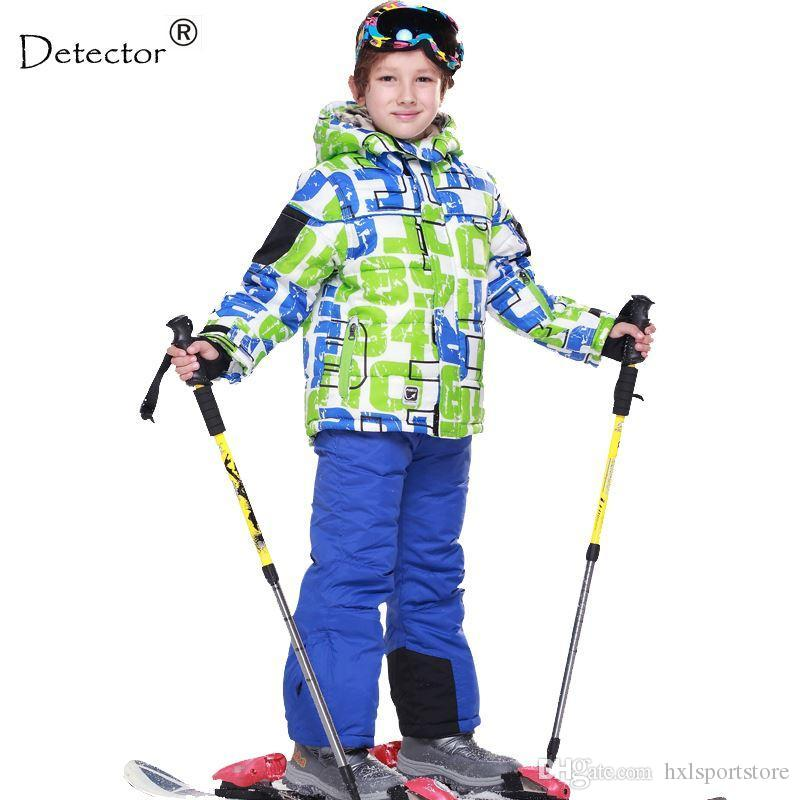 1d8a71222 2019 Skiing Jacket+Pant Snow Suit Fur Lining 20 DEGREE Ski Suit Kids ...