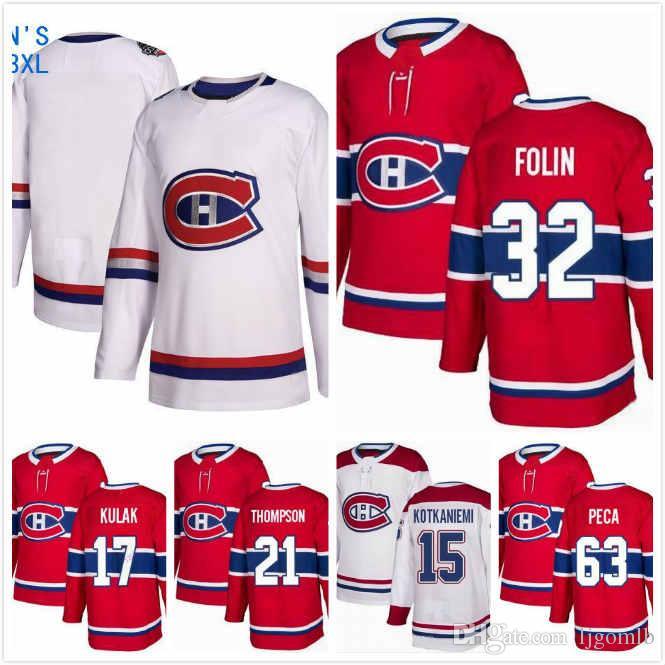 c91e0773e 2019 Brett Kulak Jersey 17 Matthew Peca 63 Jesperi Kotkaniemi 15 Nate  Thompson 21 Christian Folin 32 Hockey Jerseys 2019 Montreal Canadiens S 3XL  From ...