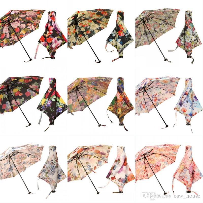 e4b7fc1f03 Japanese Ultra Light Feather Umbrella Cylinder Flower Gift Box Rain  Sunscreen Umbrellas Goddess Light Summer Accessories Umbrellas
