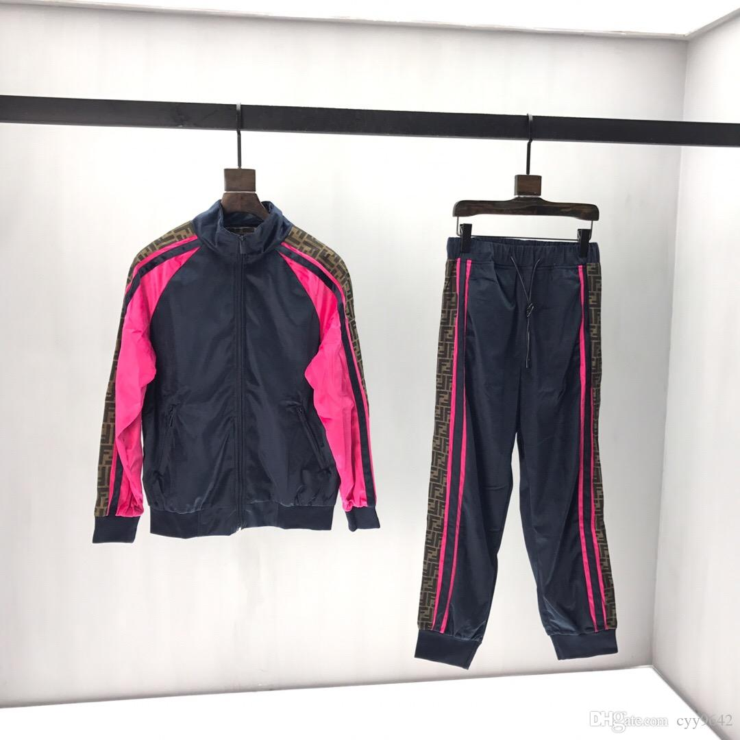 New Autumn Sports Suit with irregular running pants, hoodies, zipper and belt trousers for men and women 05