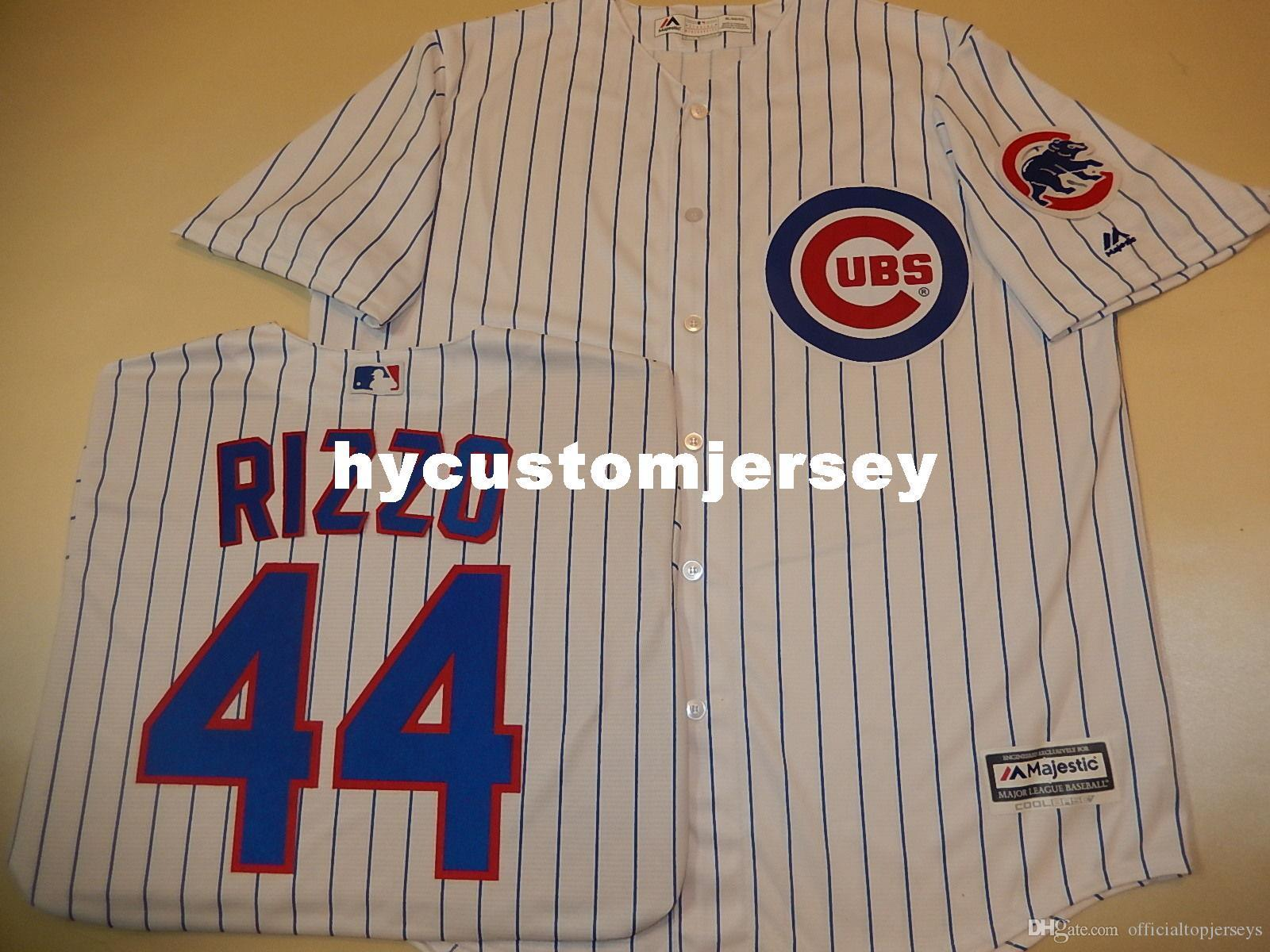 Cheap custom Chicago #44 ANTHONY RIZZO Cool Base Sewn Baseball Jersey W/Patch NEW Mens stitched jerseys Big And Tall SIZE XS-6XL For sale