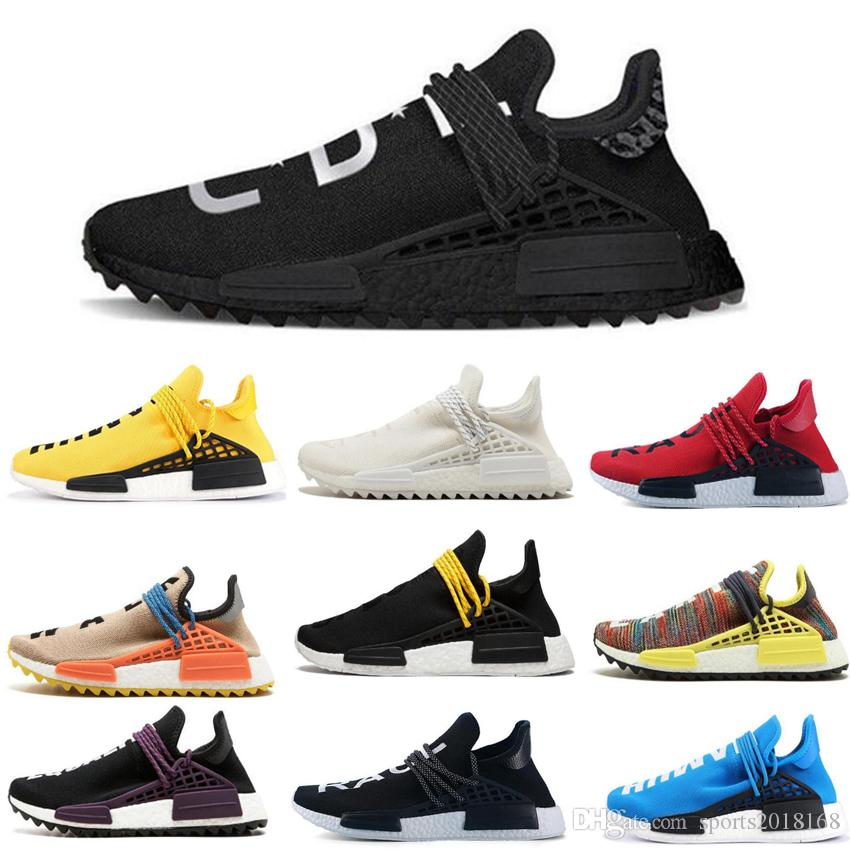 online retailer 84785 24124 Human RACE HU nmd Pharrell Williams Trail Mens Designer Sports neutral  spikes Running Shoes for Men Sneakers Women Casual Trainers shoe