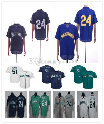 f0dbfd0465f 2019 2019 New Men SeattleMariners Baseball Jersey 24 Ken Griffey Jr ...