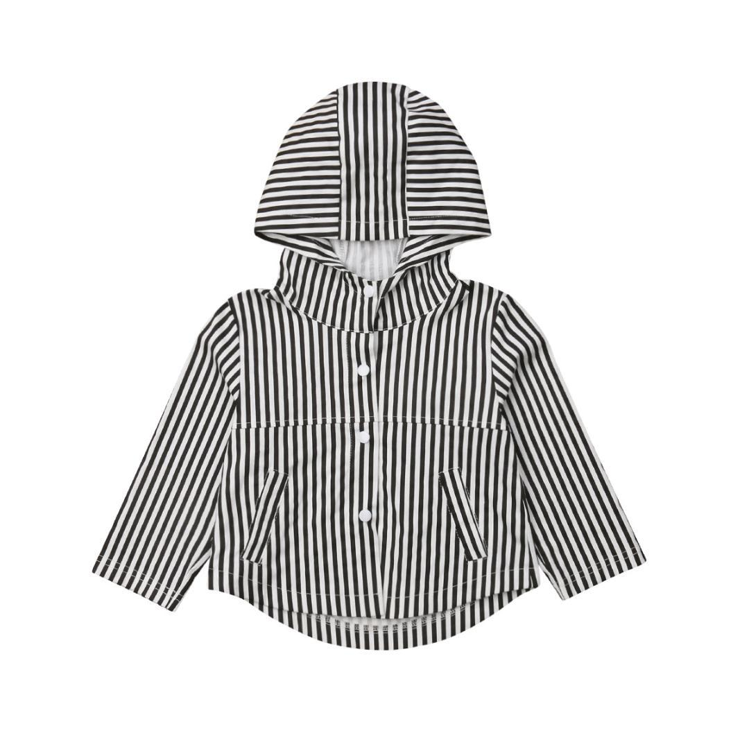 71beced24585 Emmababy 2019 Kids Baby Boy Girl Autumn Coats Clothes Long Sleeve Hooded  Casual Striped Tops Coat 1 5T Childrens Quilted Jacket Kids Jackets Girls  From ...