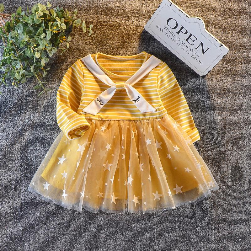 af4314745afe 2019 Good Quality Newborn Baby Dress 2019 Spring Autumn Casual Toddler Girls  Clothes Mesh Printing Dresses Baby 1 Year Old Birthday Dress From  Nextbest06, ...