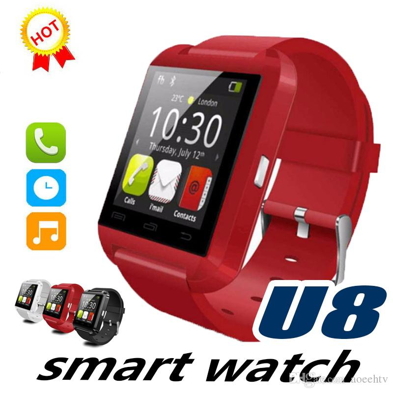 U8 Smart Watch Bluetooth Support SIM TF Card Camera Dial with Camera Touch Screen For Android IOS Smartwatch