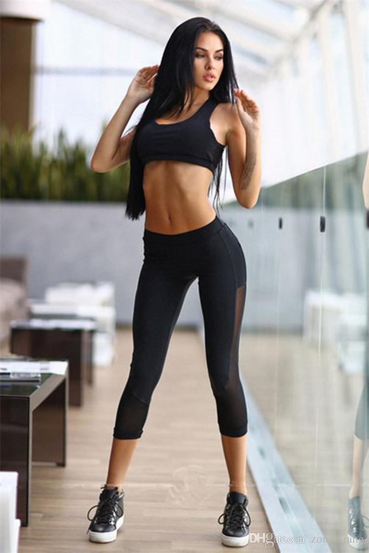 Women's Tracksuit Yoga Bra Pant Running Sports Clothing Fitness Tights Compression Gym Sportswear Sport Suit 2 Piece Yoga Set