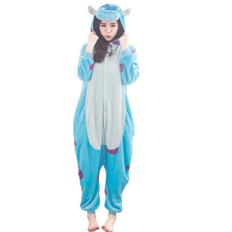 557d67e894 2019 Cute Monster Kigurumi Pajamas For Women Onesie Pyjamas Sully Cow All  In One For Cosplay Adult Sleepwear Halloween From Home5